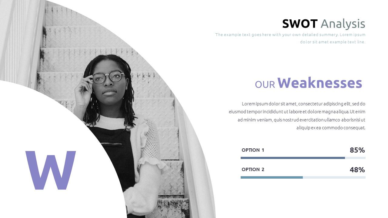 Best SWOT Analysis Template Powerpoint 2021: 40 Unique Slides & 5 Color Schemes - Slide34