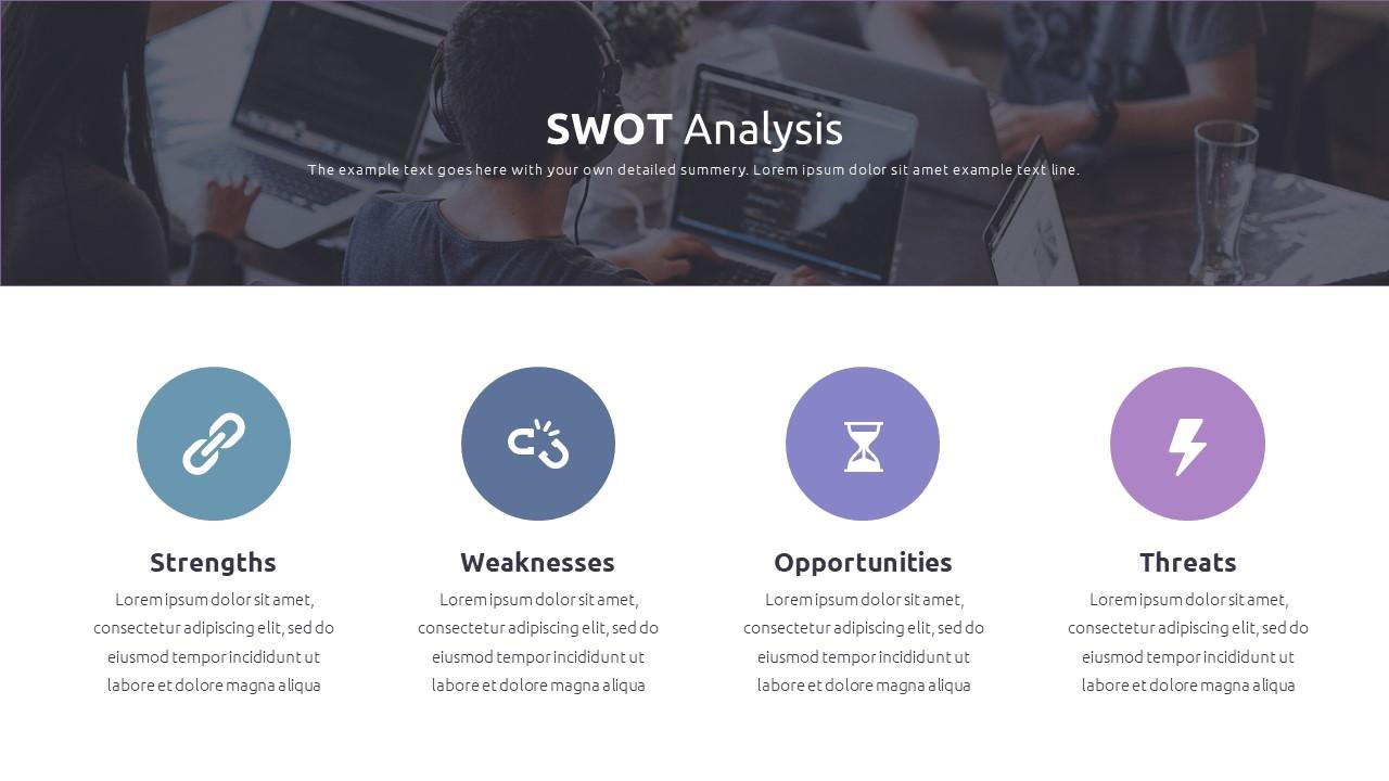 Best SWOT Analysis Template Powerpoint 2021: 40 Unique Slides & 5 Color Schemes - Slide37