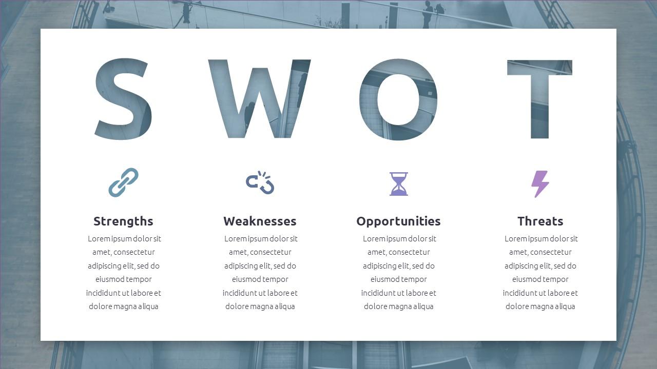 Best SWOT Analysis Template Powerpoint 2021: 40 Unique Slides & 5 Color Schemes - Slide40