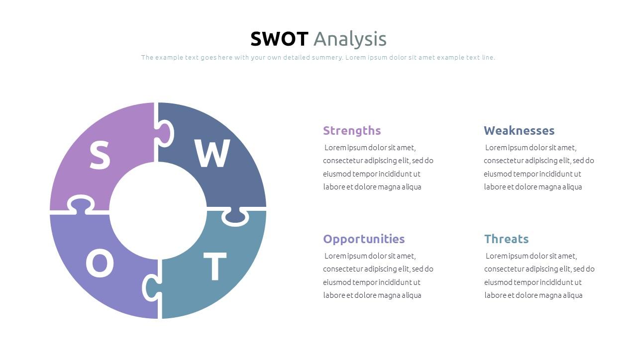 Best SWOT Analysis Template Powerpoint 2021: 40 Unique Slides & 5 Color Schemes - Slide5