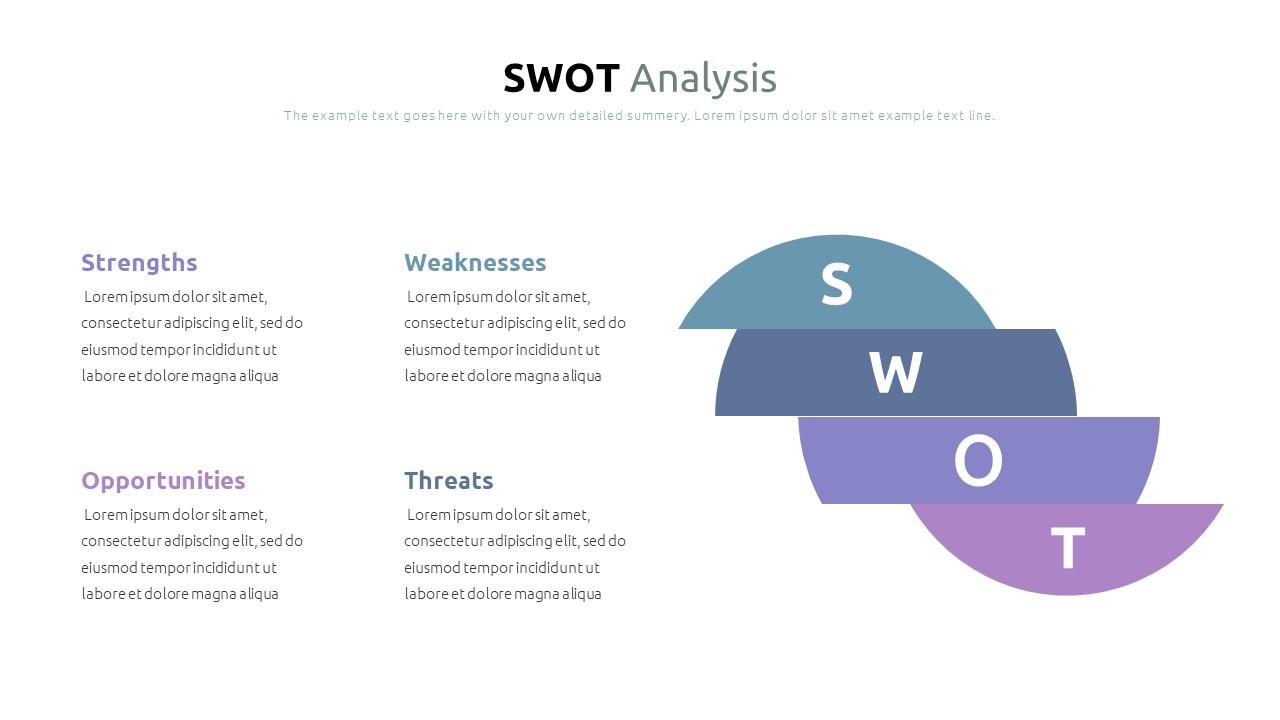 Best SWOT Analysis Template Powerpoint 2021: 40 Unique Slides & 5 Color Schemes - Slide6