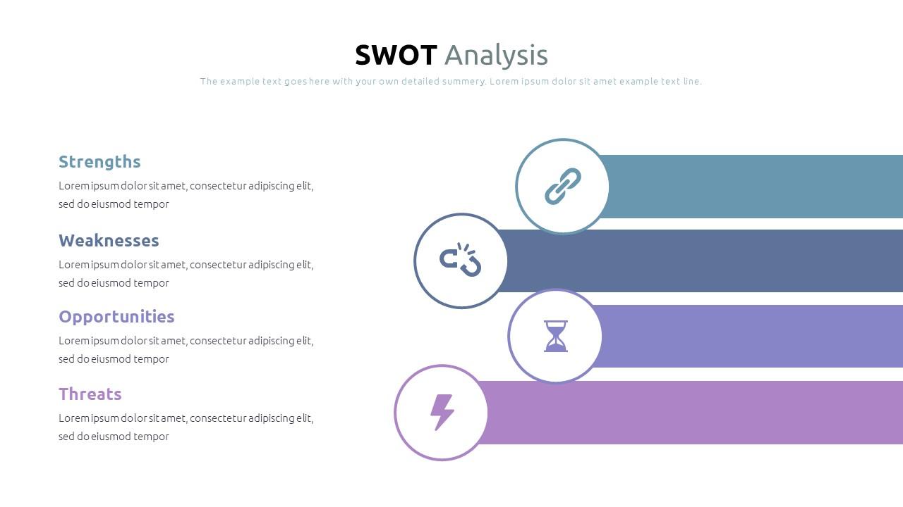 Best SWOT Analysis Template Powerpoint 2021: 40 Unique Slides & 5 Color Schemes - Slide7