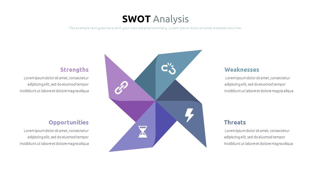 Best SWOT Analysis Template Powerpoint 2021: 40 Unique Slides & 5 Color Schemes - Slide9