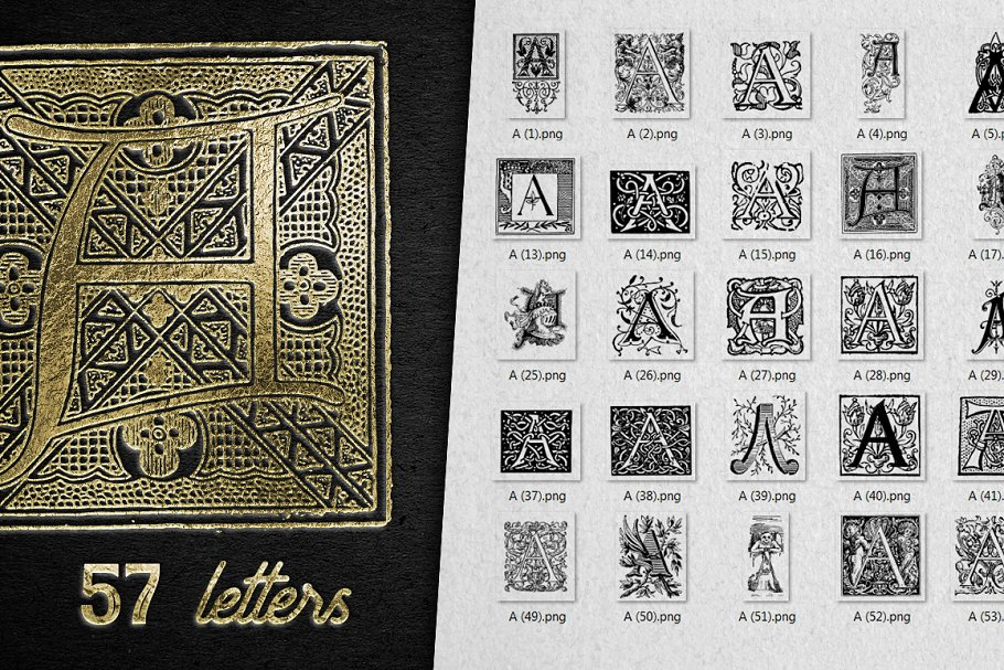 2882 Vintage Letters Collection (28 IN 1) - a