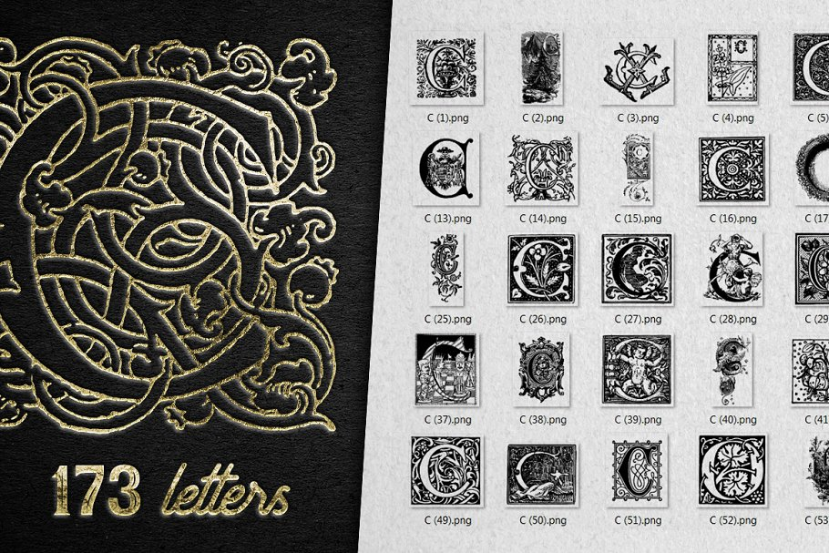 2882 Vintage Letters Collection (28 IN 1) - c