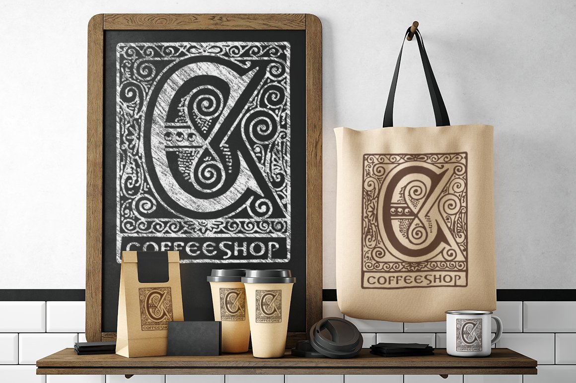 2882 Vintage Letters Collection (28 IN 1) - coffeshop