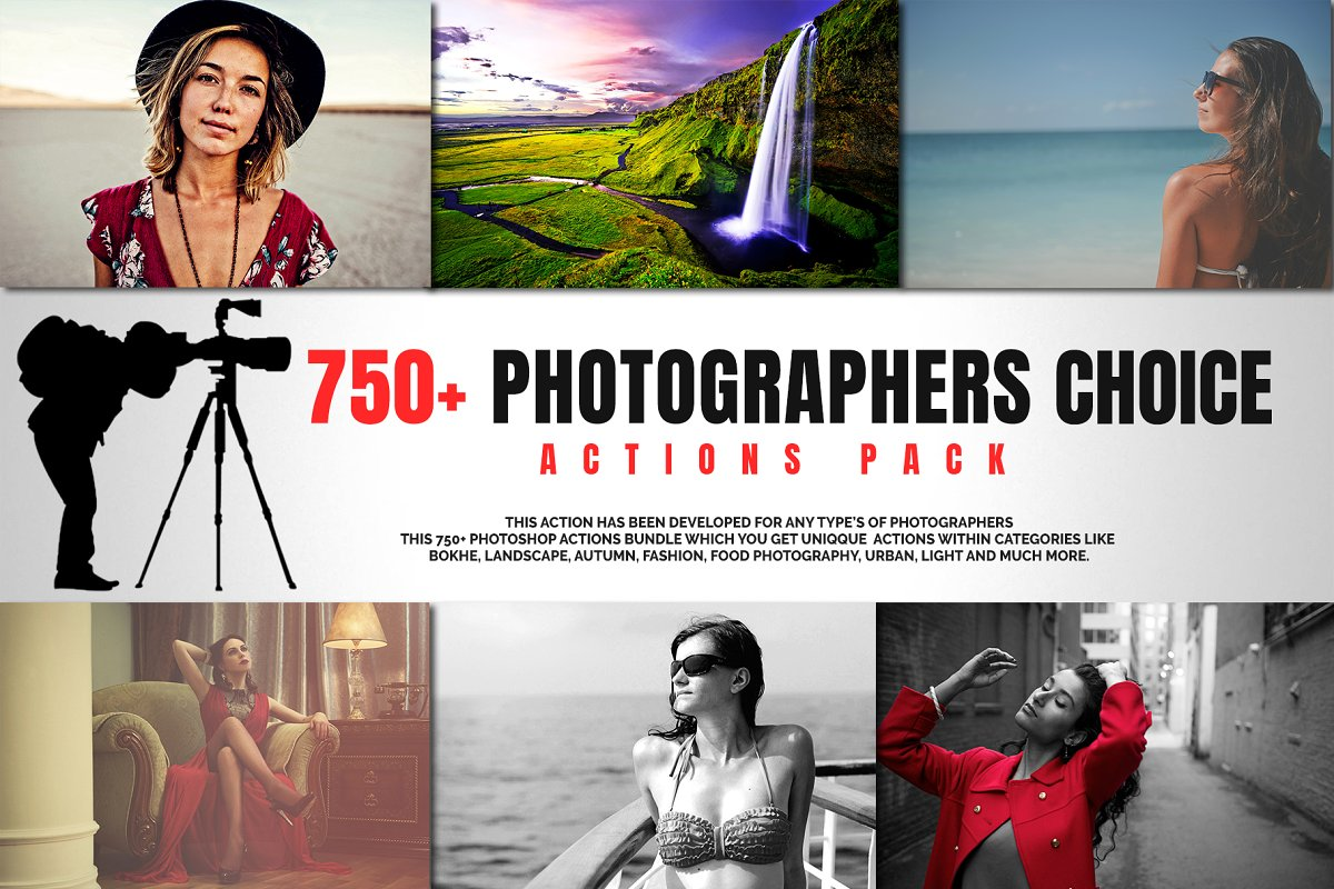750+ Photographers Choice Clean Photoshop Actions - cover image 1
