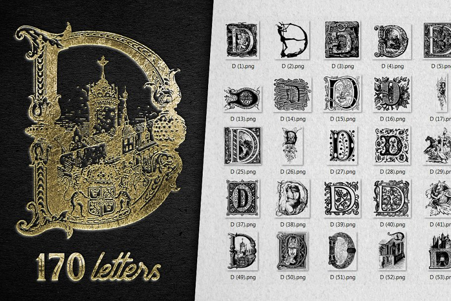 2882 Vintage Letters Collection (28 IN 1) - d