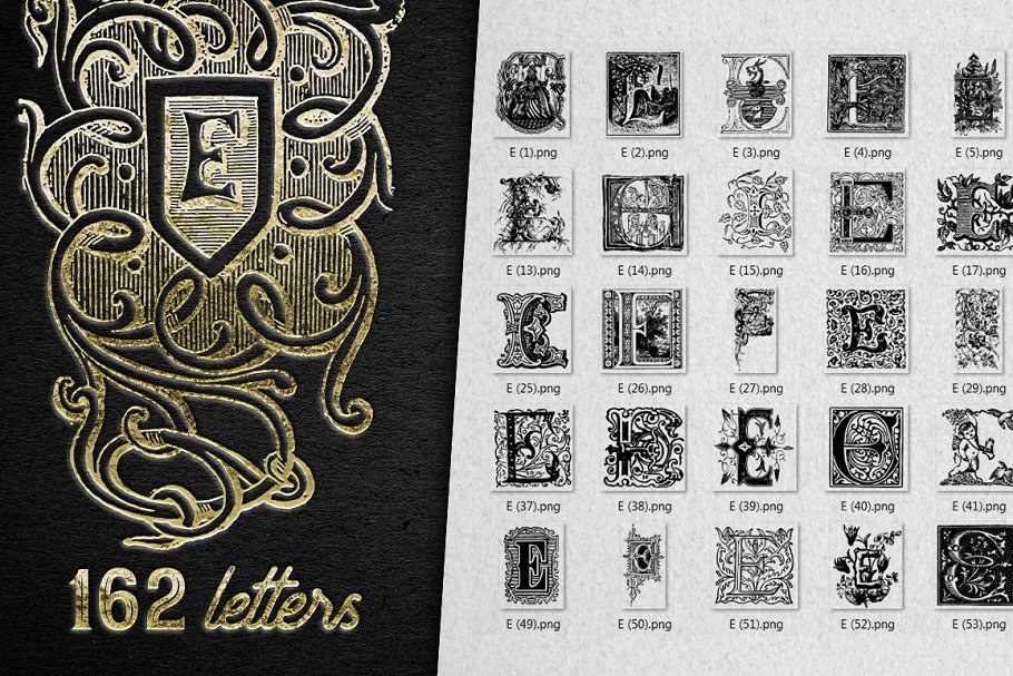2882 Vintage Letters Collection (28 IN 1) - e