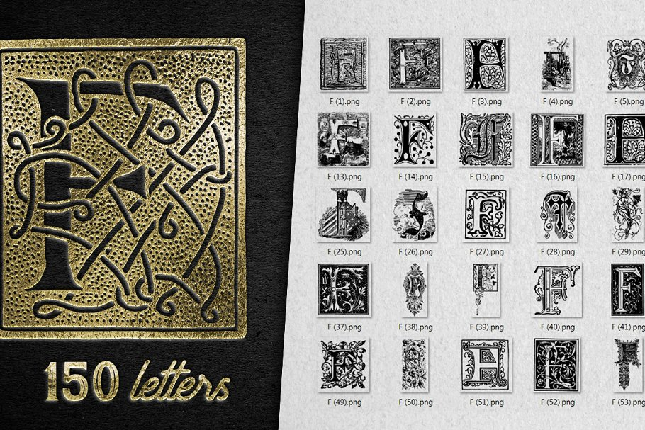 2882 Vintage Letters Collection (28 IN 1) - f