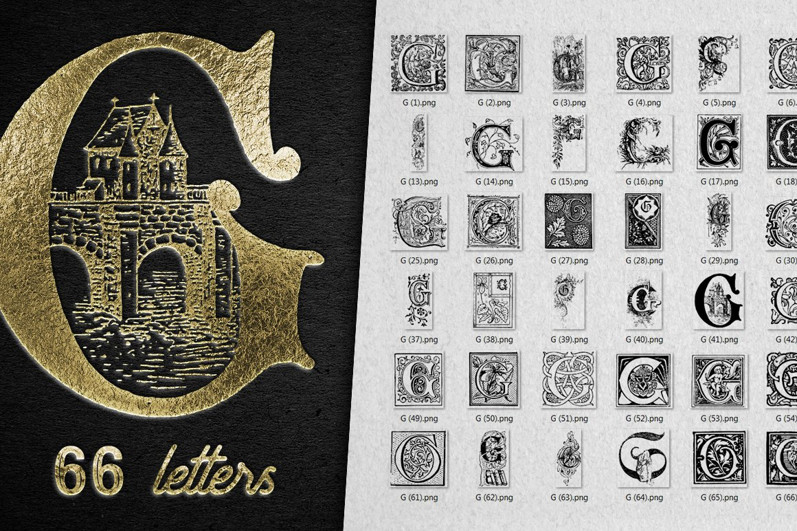 2882 Vintage Letters Collection (28 IN 1) - g