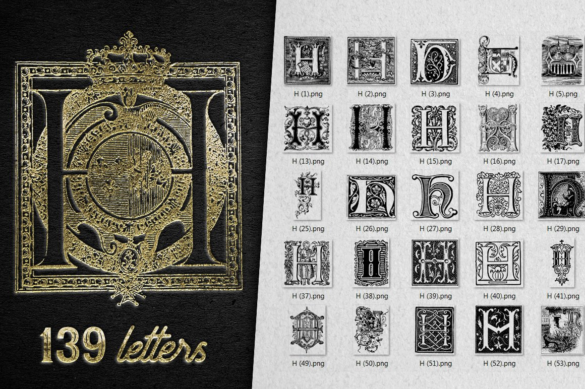 2882 Vintage Letters Collection (28 IN 1) - h
