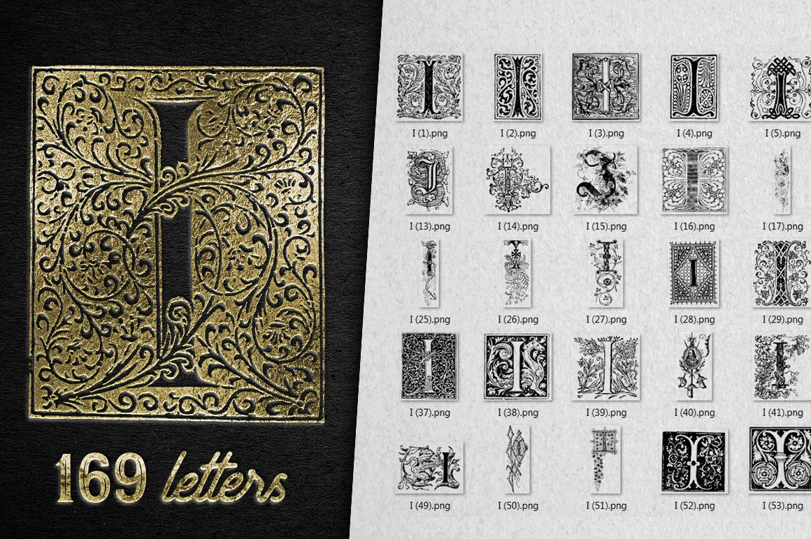 2882 Vintage Letters Collection (28 IN 1) - i