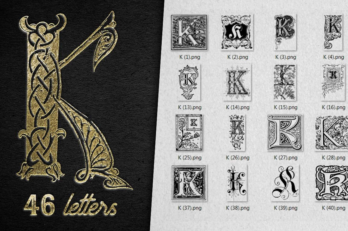2882 Vintage Letters Collection (28 IN 1) - k