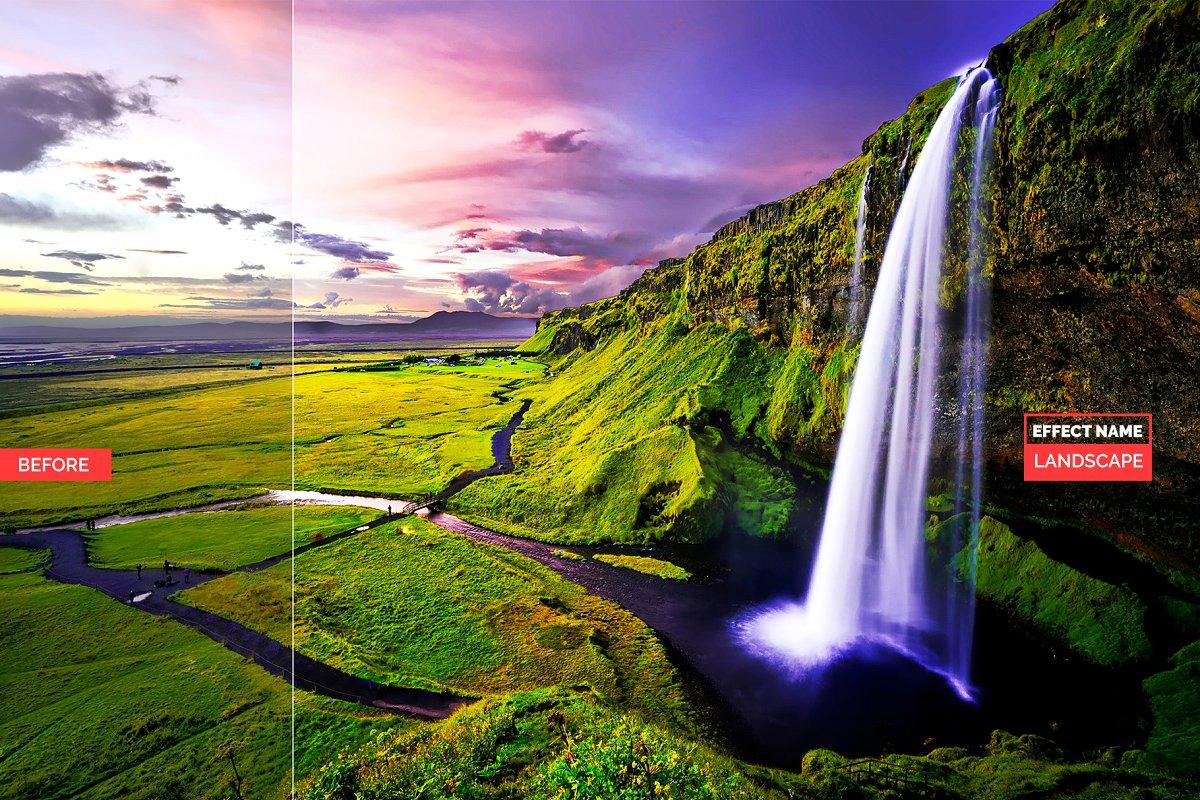750+ Photographers Choice Clean Photoshop Actions - landscape 1
