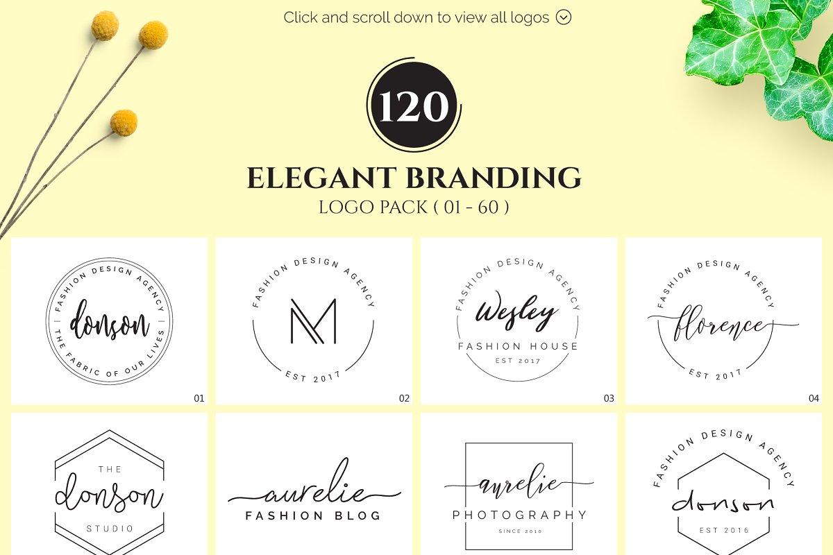 120 Elegant Logo Branding Pack - main prev 1