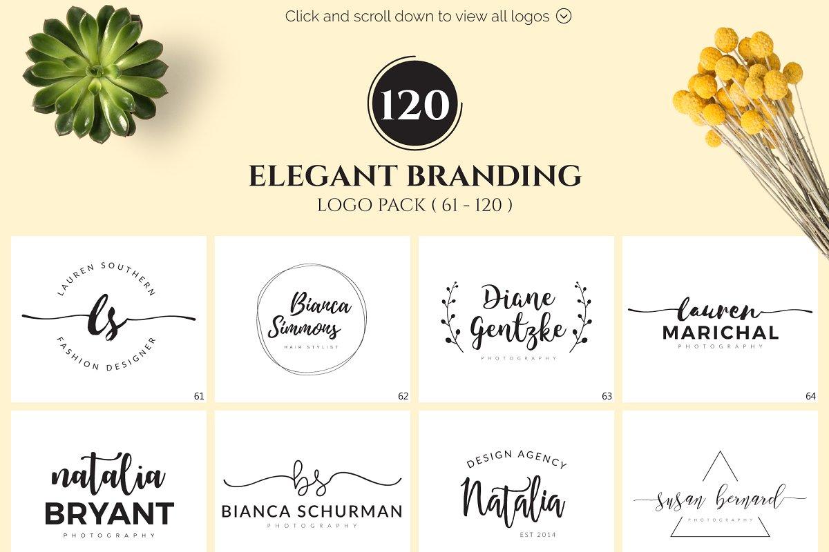 120 Elegant Logo Branding Pack - main prev 2
