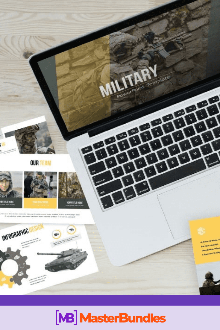 Military Powerpoint Template: Best 50 Unique Slides in 2020. Pinterest Image.