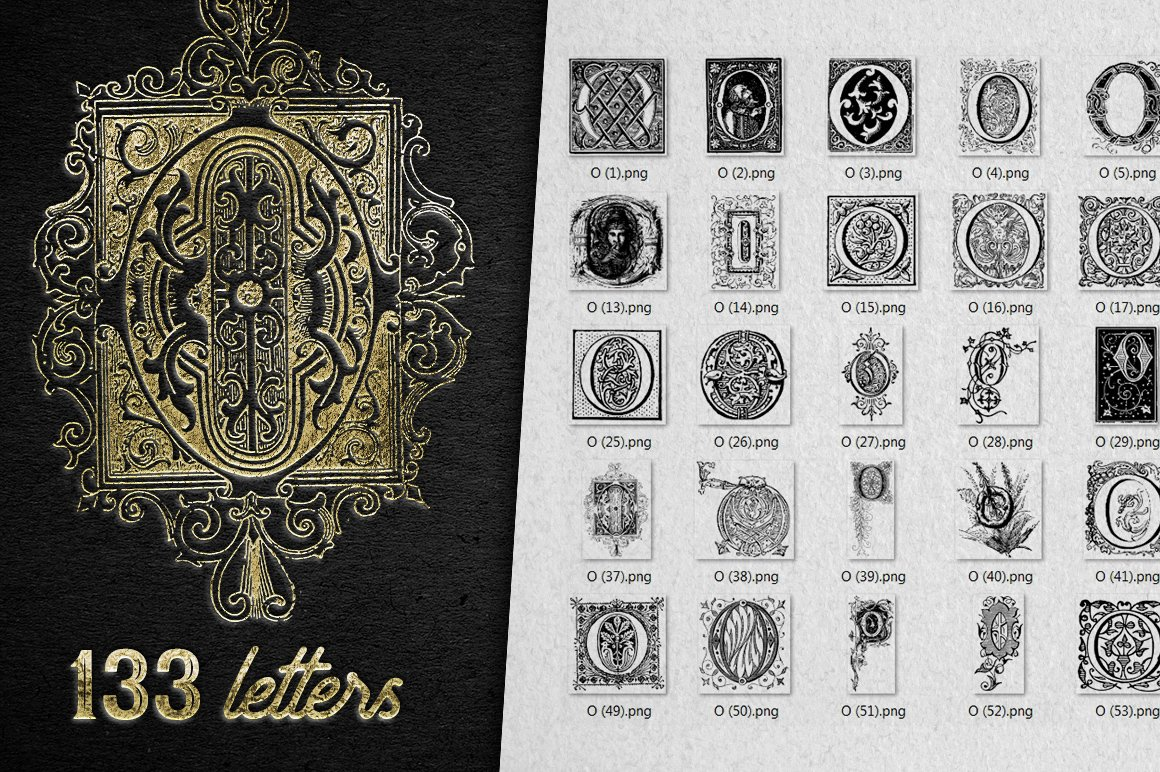 2882 Vintage Letters Collection (28 IN 1) - o