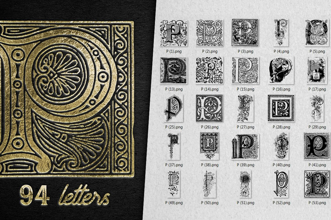 2882 Vintage Letters Collection (28 IN 1) - p