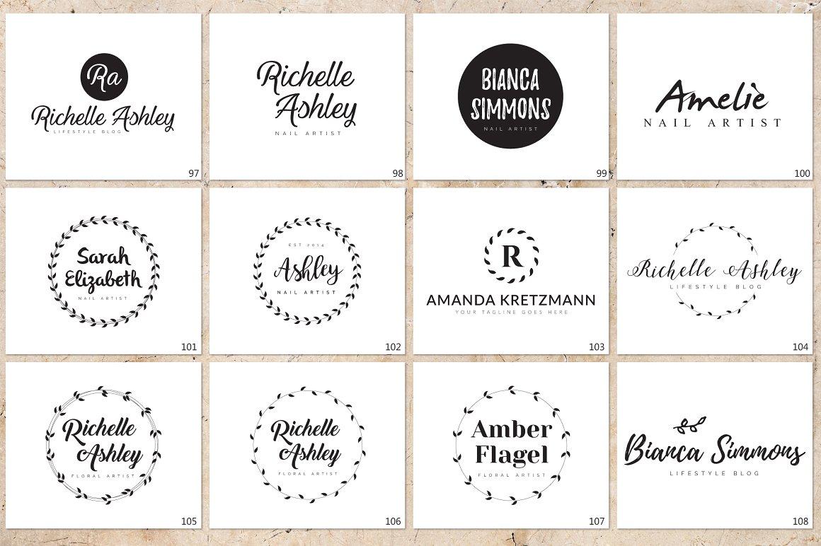 120 Elegant Logo Branding Pack - prev 13 1 1