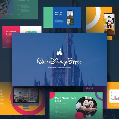 Disney Powerpoint Template 2020: 50 Unique Slides - preview01 490x490