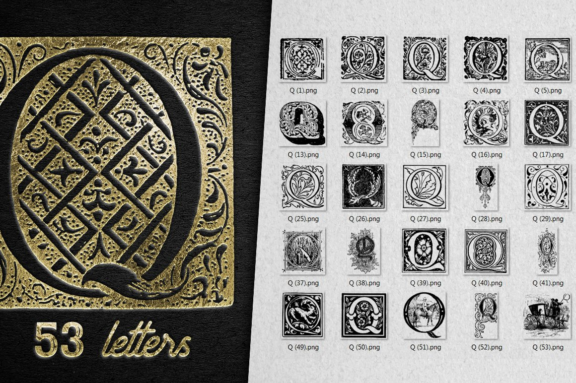 2882 Vintage Letters Collection (28 IN 1) - q