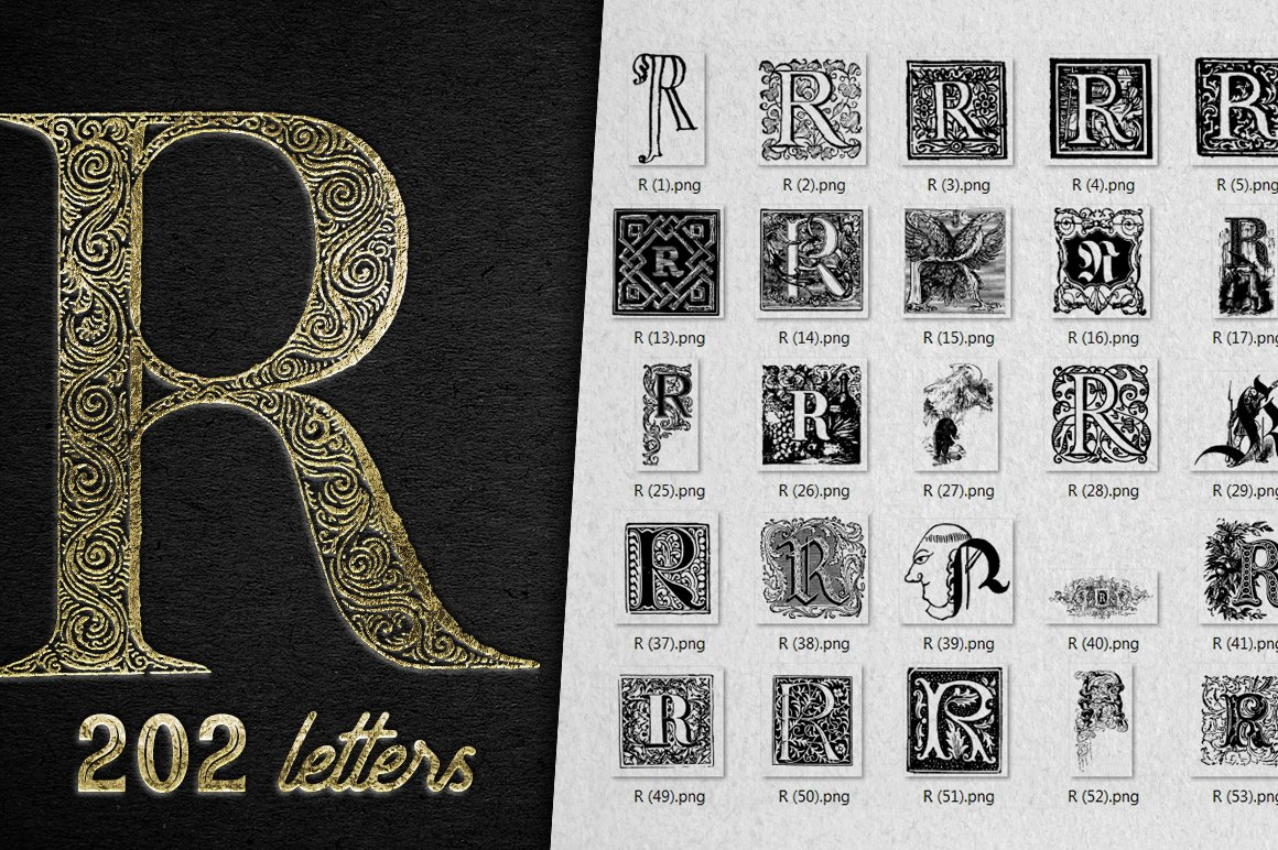 2882 Vintage Letters Collection (28 IN 1) - r