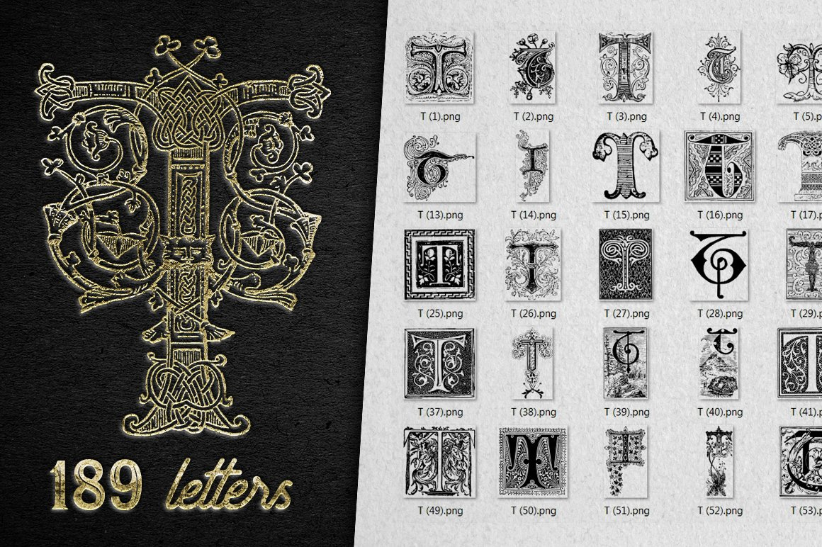 2882 Vintage Letters Collection (28 IN 1) - t