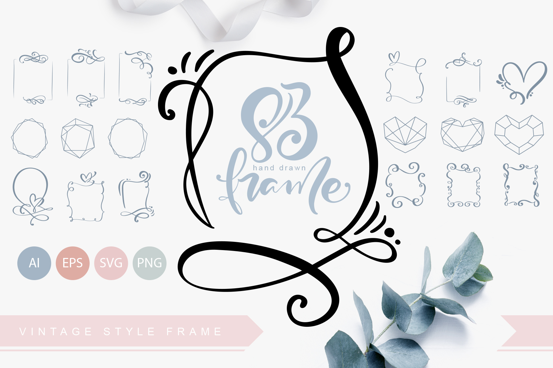 83 Hand Drawn Vintage SVG Frames - title01 1