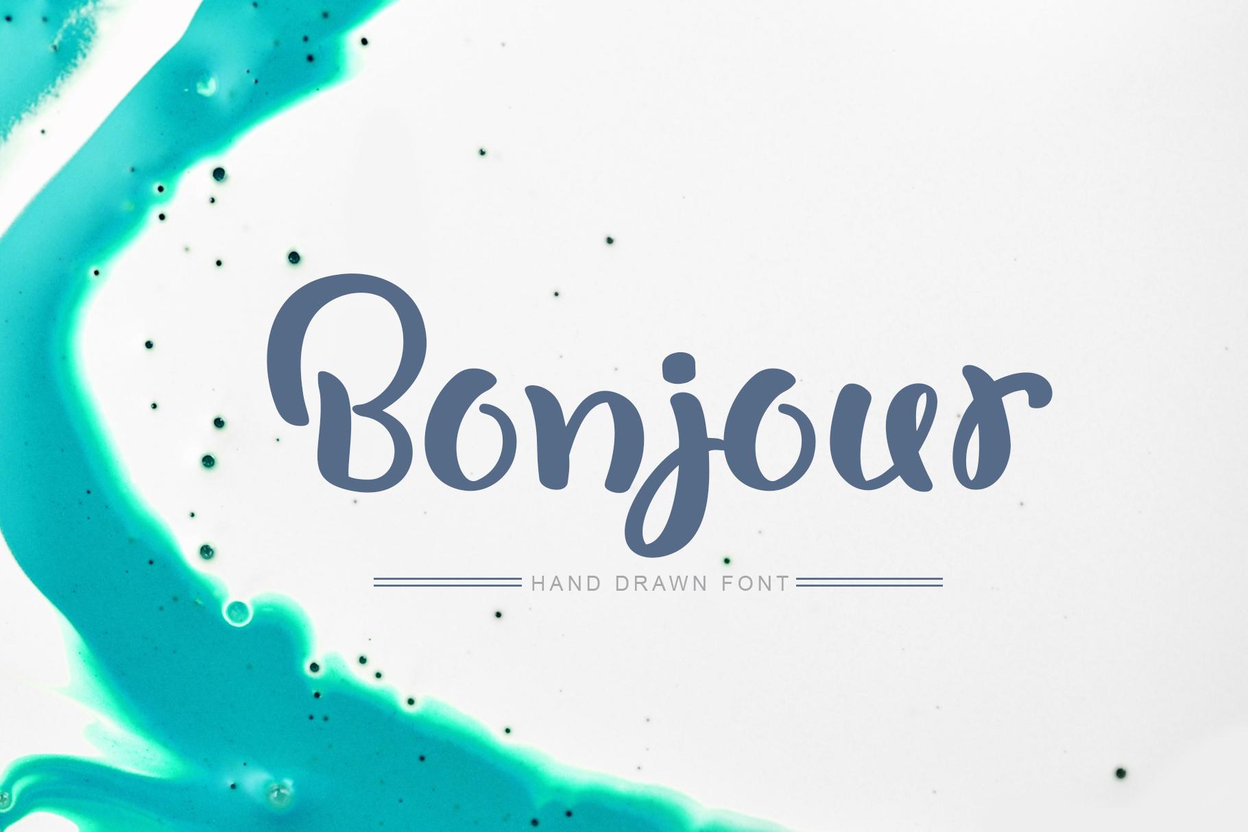 Bonjour Tall Handwritten Font 2020 - title01 4