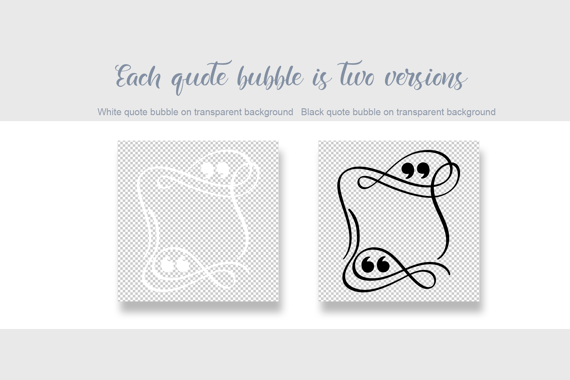 Calligraphic Quote Bubble: Instagram Quote Cards Template - title05