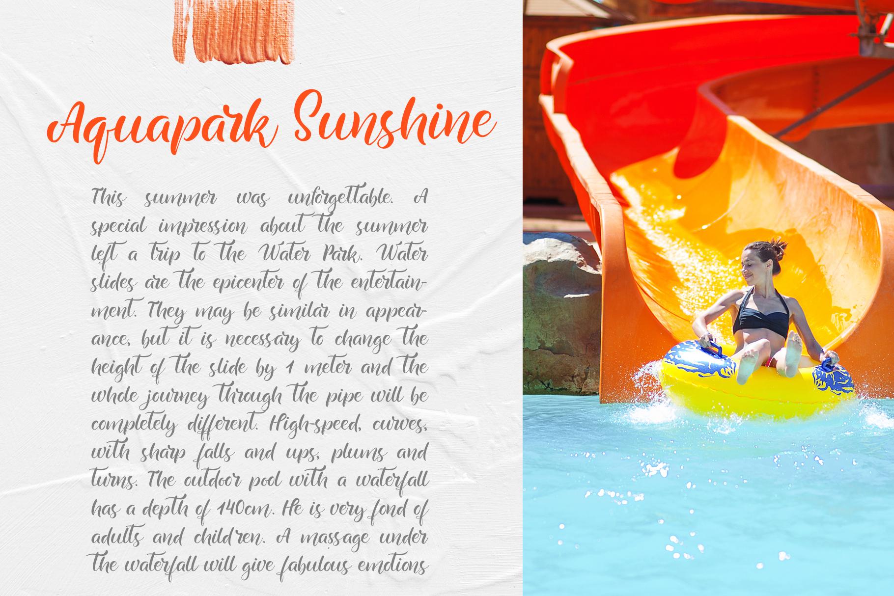 Summer Handwritting Beach Resort Font - title09 1