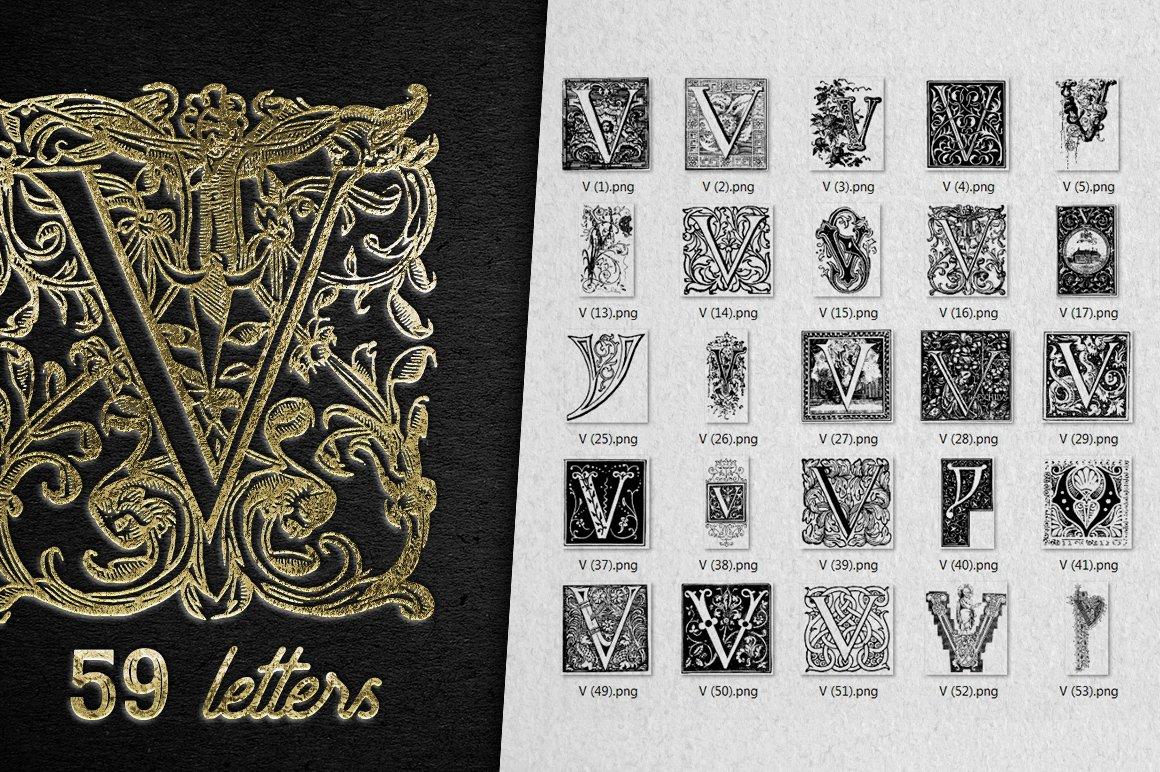 2882 Vintage Letters Collection (28 IN 1) - v