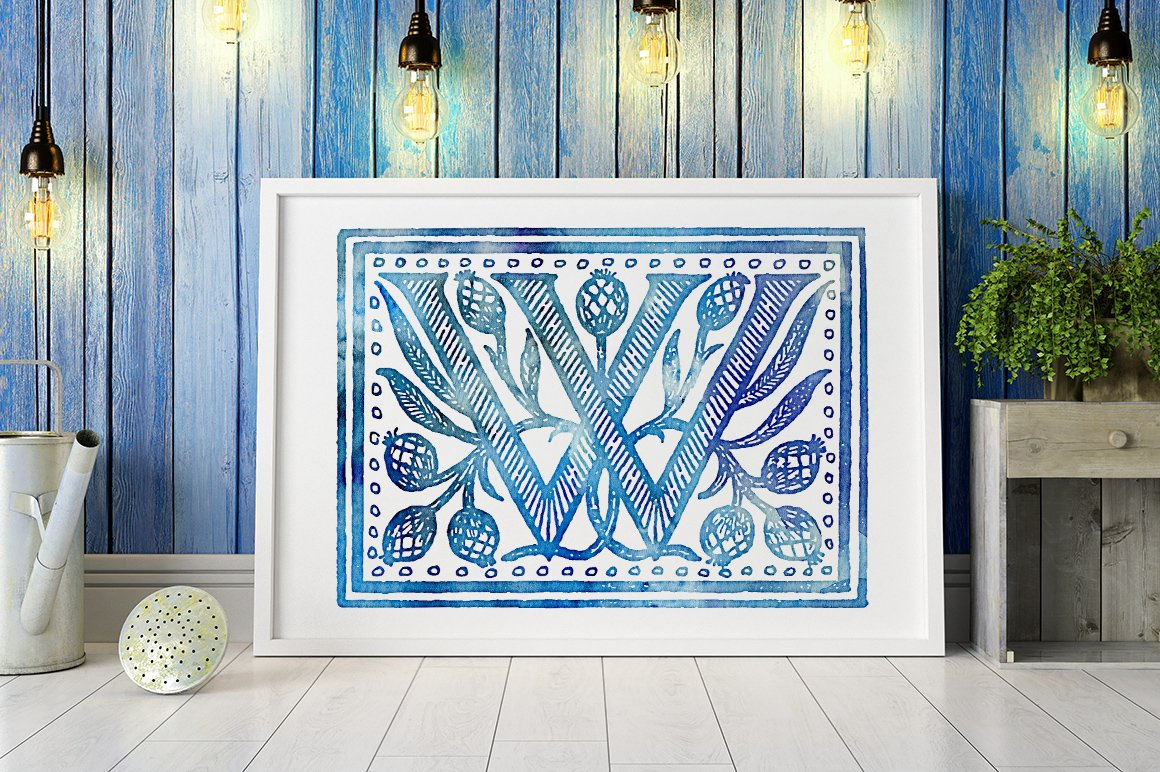 2882 Vintage Letters Collection (28 IN 1) - watercolor