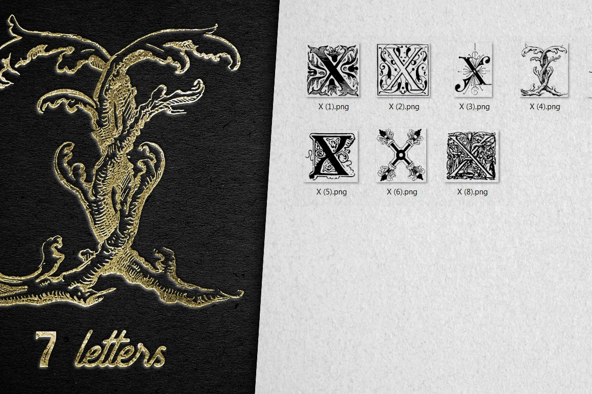 2882 Vintage Letters Collection (28 IN 1) - x