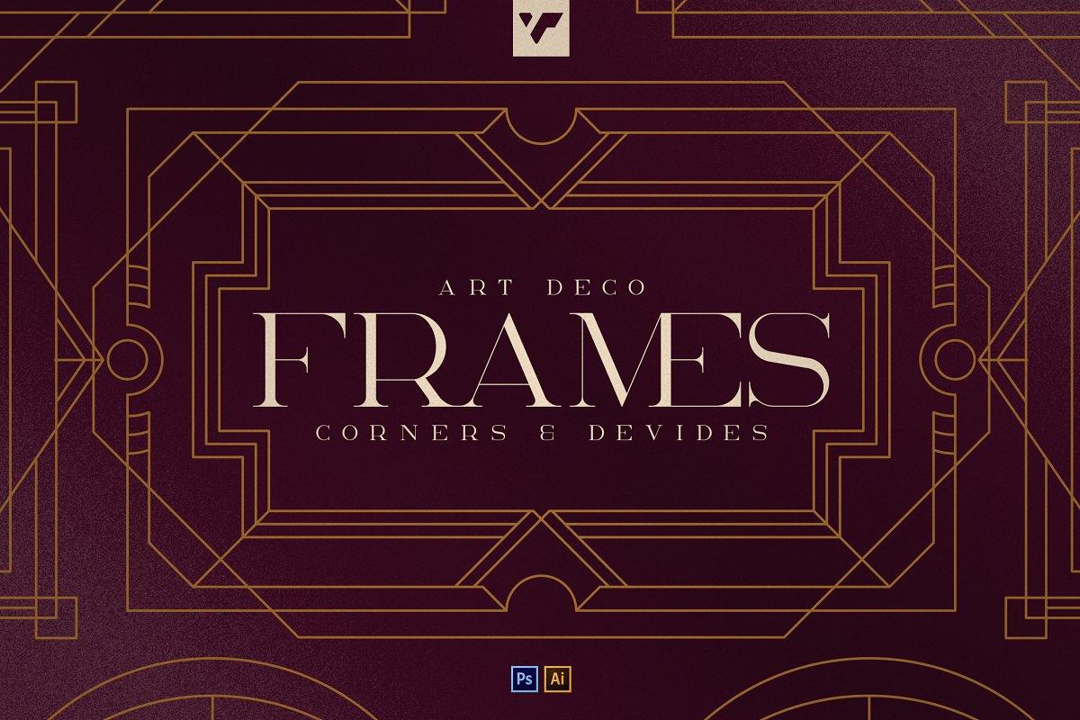 Art Deco Frames, Corners, Deviders - 1 2 2