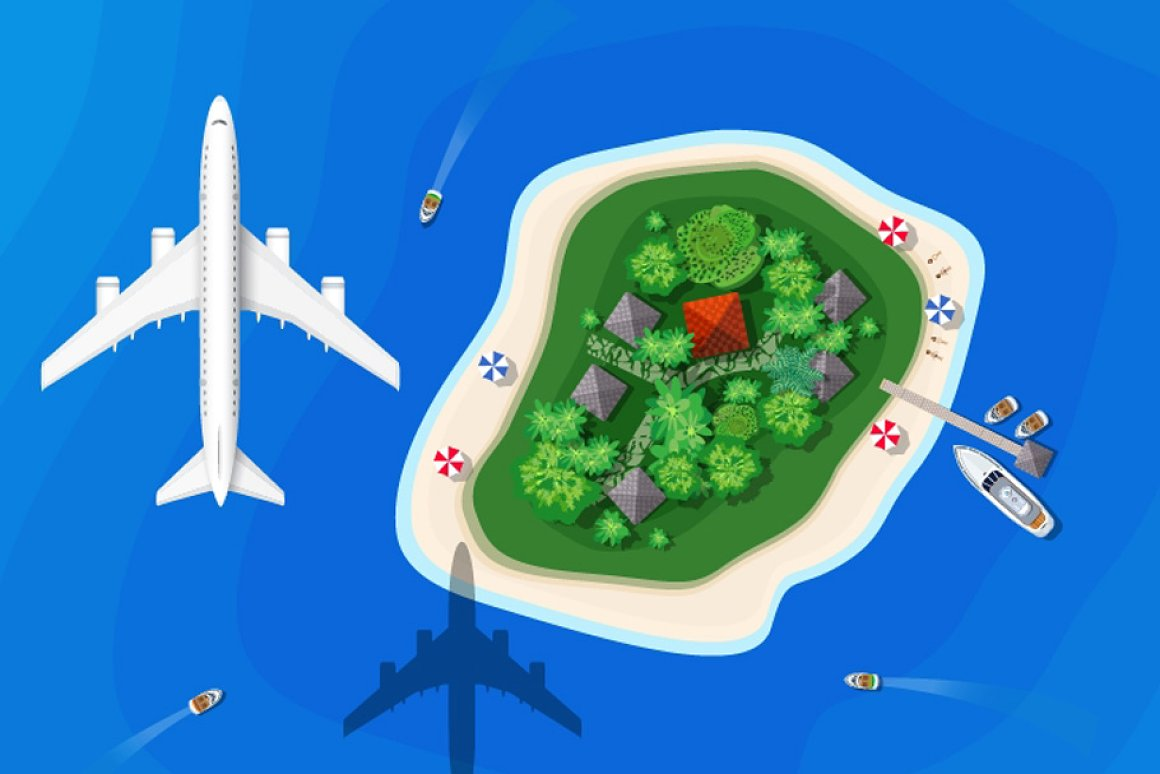 Map Clipart: a Set of Vector Maps Top View - 12