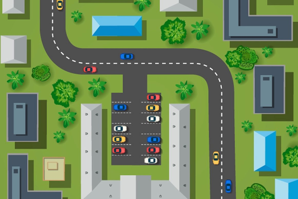 Map Clipart: a Set of Vector Maps Top View - 16