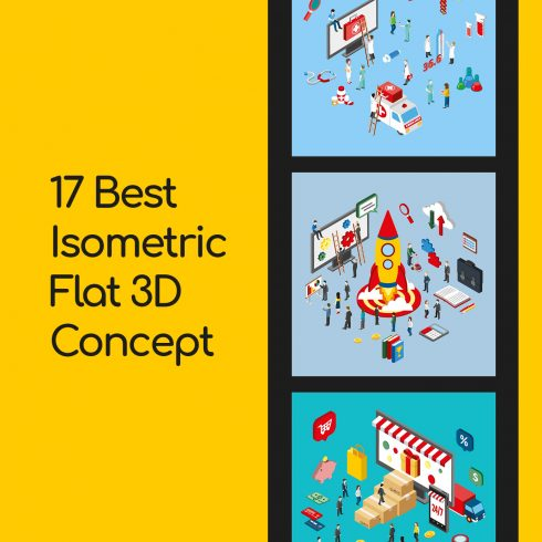 Isometric Art Bundle: Awesome Concepts with an Awesome Discount - 17 Best Isometric Flat 3D Concept 1 490x490