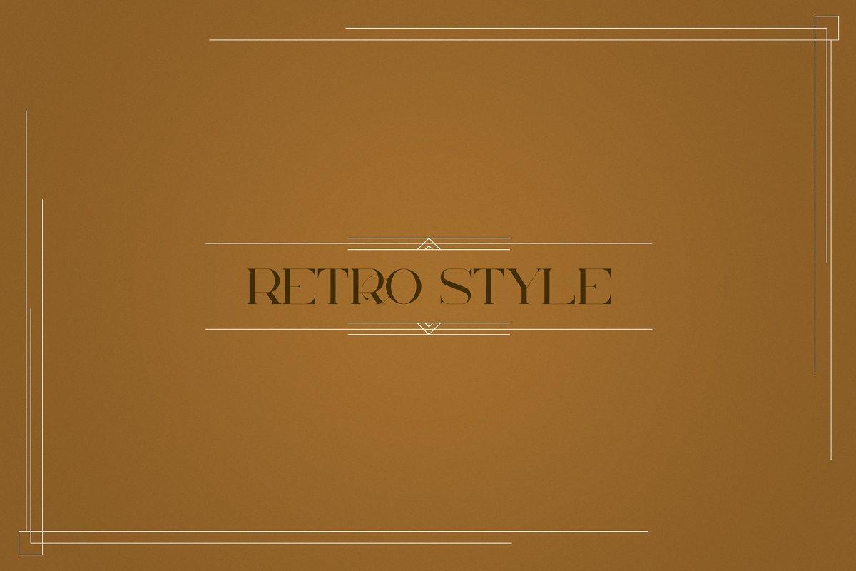 Art Deco Frames, Corners, Deviders - 4 2 2