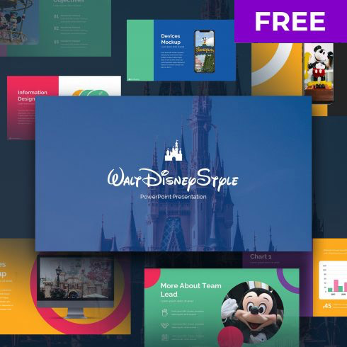 Free Disney Powerpoint Template 2020: 6 Slides - 490