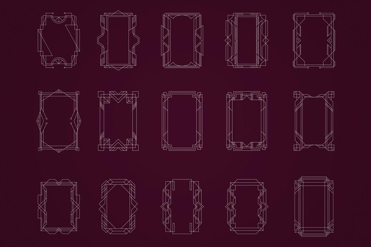 Art Deco Frames, Corners, Deviders - 5 2 2