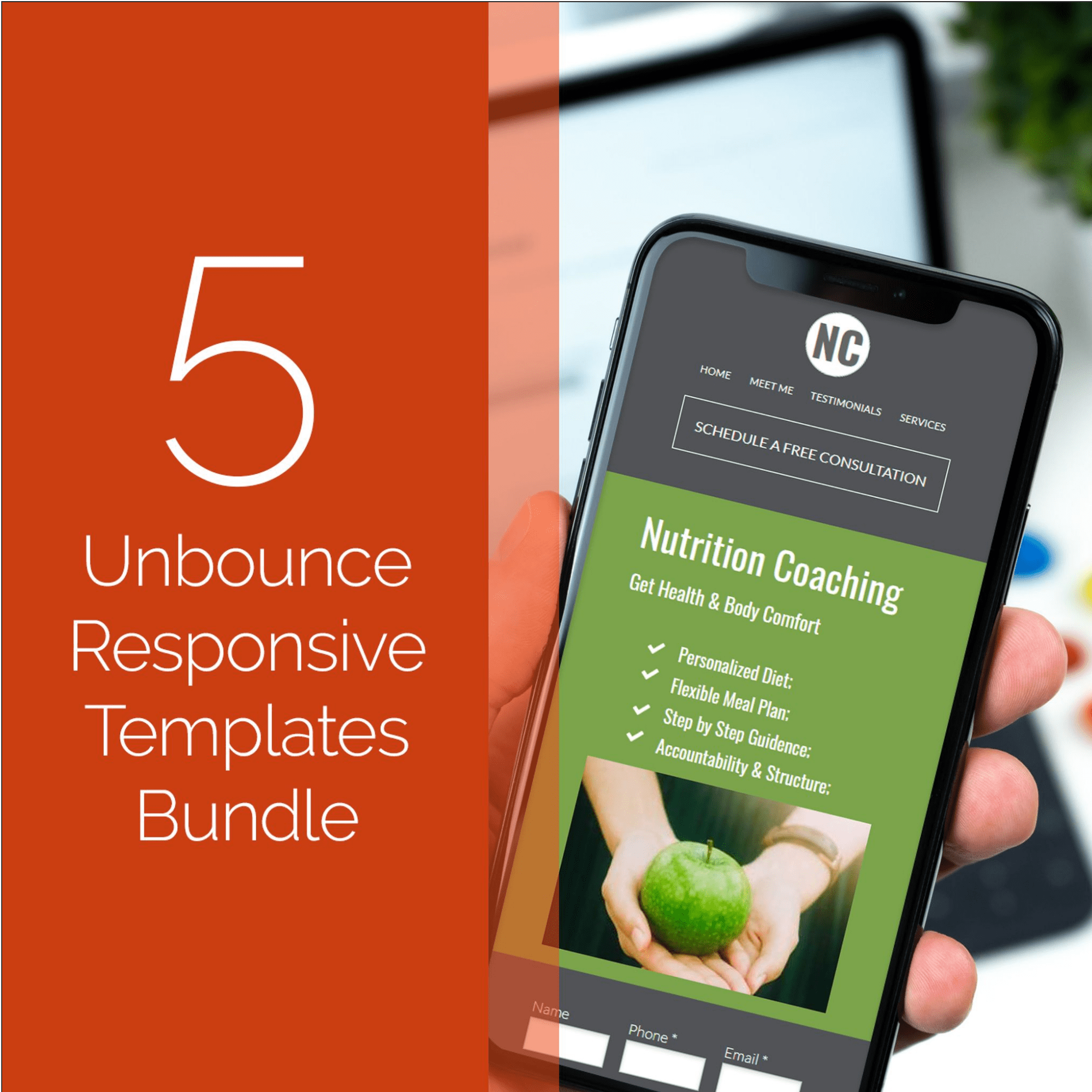 Acuena Has Released Exclusive Unbounce Landing Page Bundles for MasterBundles and You're Gonna Like Those - 5 unbounce responsive templates