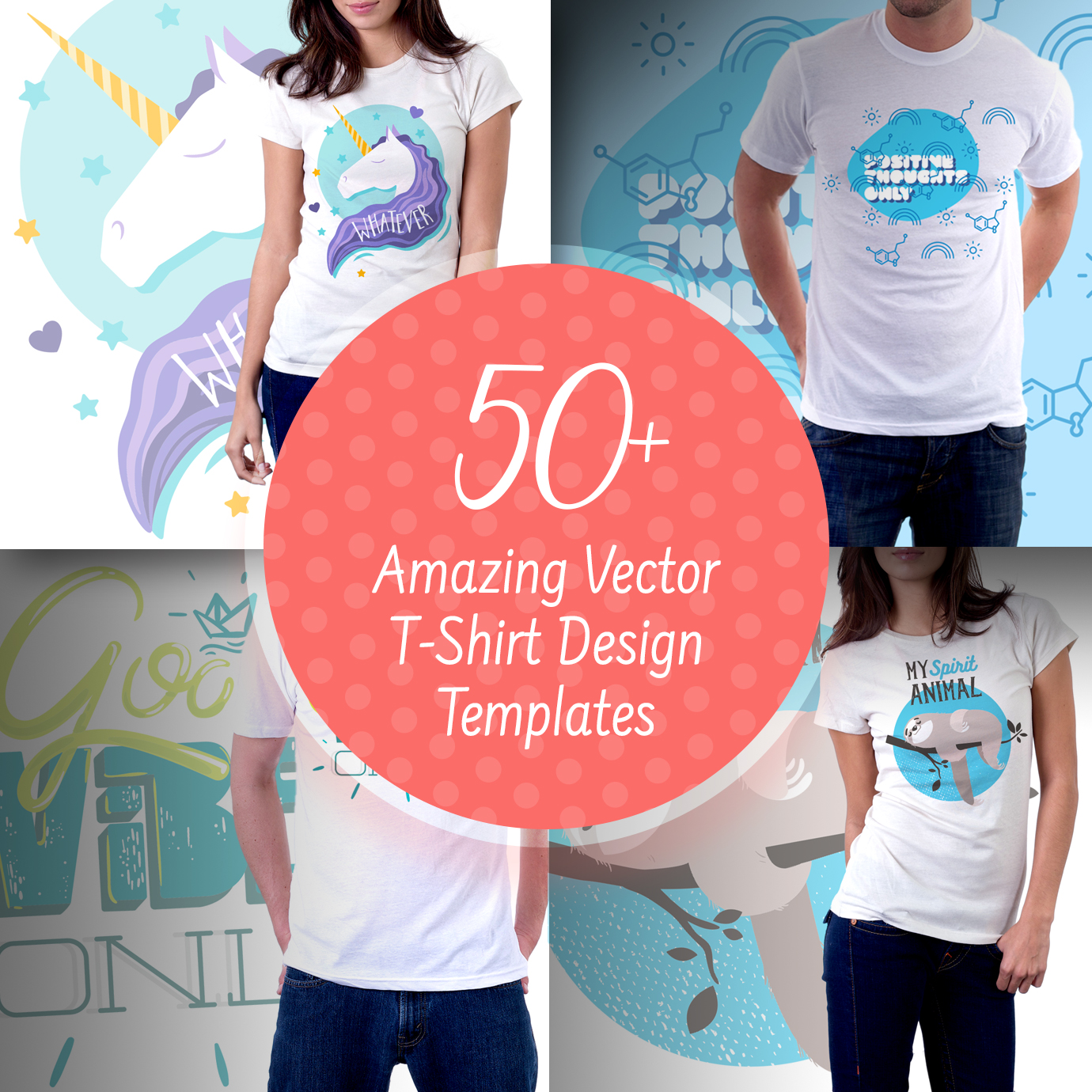 50+ Best T-Shirts 2021. Best T-Shirt Design Ideas For You - 50 Amazing Vector T Shirt Design Templates 1