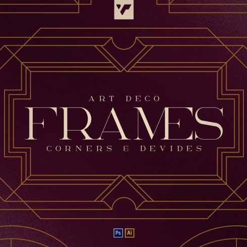 Art Deco Frames, Corners, Deviders - 600 6 490x490