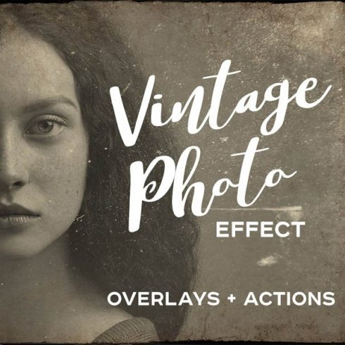 Vintage Old Photo Effect Overlays - 601 2 490x490