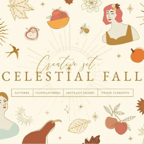 Fall Clipart: Celestial Fall Graphic Set
