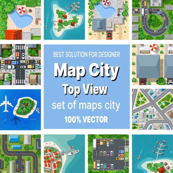 Map Clipart main cover.