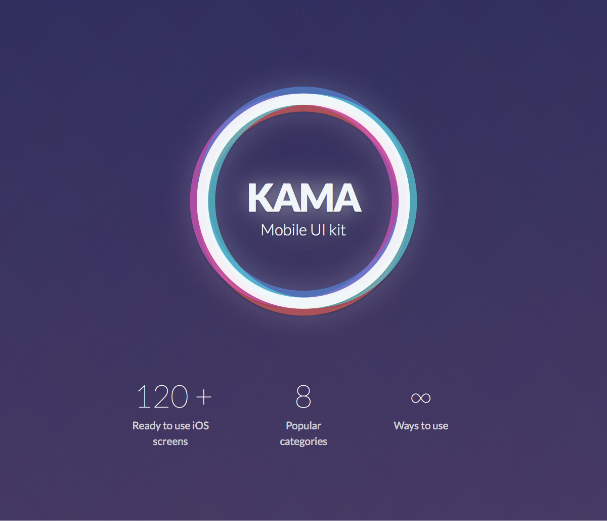 Kama iOS UI Kit for Sketch & Photoshop - 68747470733a2f2f302e73332e656e7661746f2e636f6d2f66696c65732f3136383134373535302f5468656d65253230507265766965772f312532302d2532306865726f2e706e67